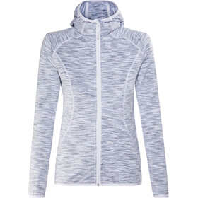 Meru Sitia Fleece Jas Dames, light grey multicolor